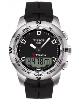 T-Touch II Chrono Silicone Noir Homme