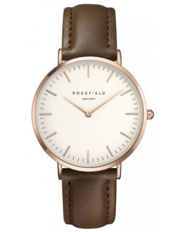 The Bowery White Brown Rose Gold