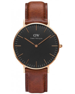 Classic Black St Mawes Rose Gold 36mm Homme