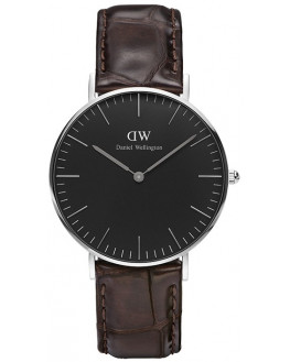 Classic Black York Silver 36mm Homme
