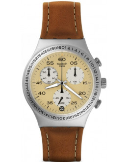 Brushed Earth Chrono Cuir Homme